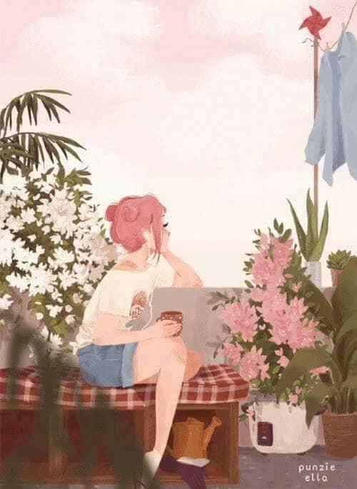gif, art, and pink image