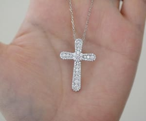 cross, necklace, and Pave image