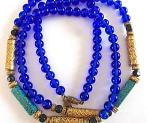 beads, cobalt blue, and glass image