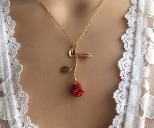 rose, fashion, and necklace image