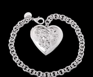 bracelet, silver jewelry, and silver heart image