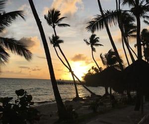 beautiful, paradise, and sunset image