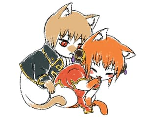 anime, cat, and gif image