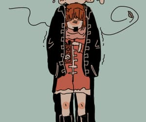 anime, cold, and okita image