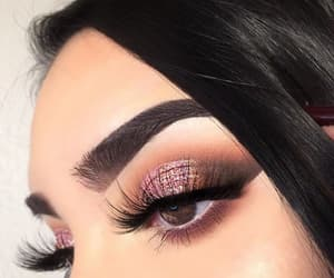 eyes, makeup, and brown eyes image