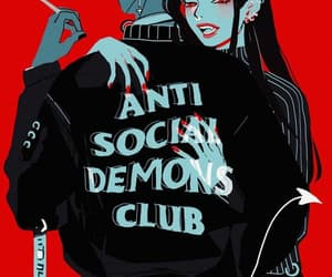 cool, demon, and red image