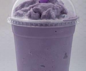 bubble tea, purple, and taro image