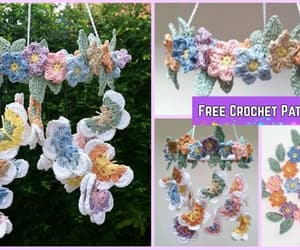 butterfly, crochet, and mobile image