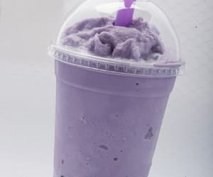 blueberry, bubble tea, and purple image