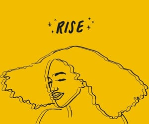 yellow, rise, and aesthetic image