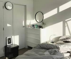 bed, flat, and home image