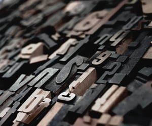 ink, wood, and letters image