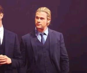 tom hiddleston, chris hemsworth, and loki image