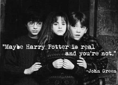harry potter, john green, and hermione granger image