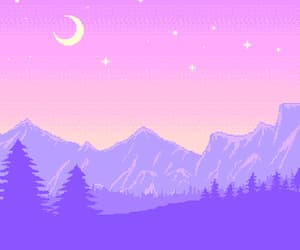 gif, moon, and pink image