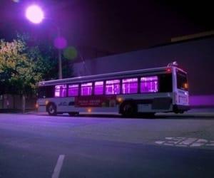 purple, bus, and grunge image