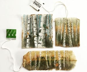 creative, paintings, and teabags image