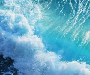 blue, wallpaper, and ocean image