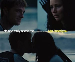 the hunger games, kiss, and ship image