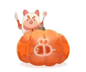 pumpkin and bee and puppycat image