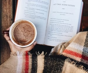 blanket, book, and coffee image