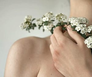 flowers, skin, and white image