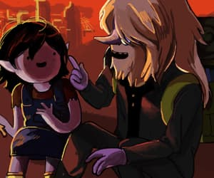 simon, marceline, and adventure time image