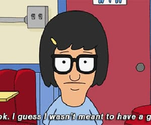 tina, bobs burgers, and sad image