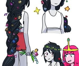 princess bubblegum, marceline, and adventure time image