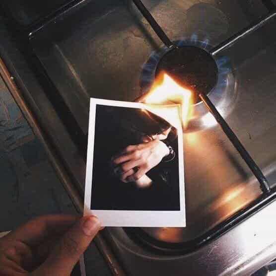 fire, couple, and memories image