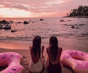 chill, summer, and donuts image