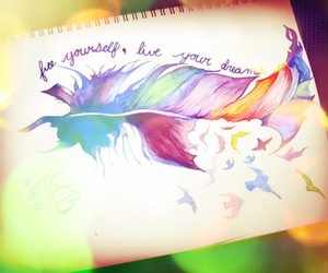 Dream, feather, and live image