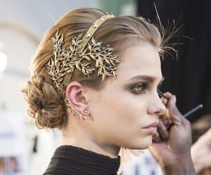 fashion, elie saab, and hair image