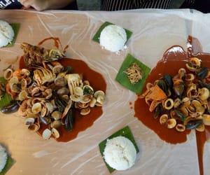 food, malaysian food, and seafood image