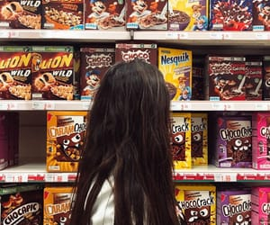cereal, girl, and hair image