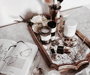 book, girl, and makeup image