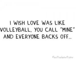 love, volleyball, and quotes image