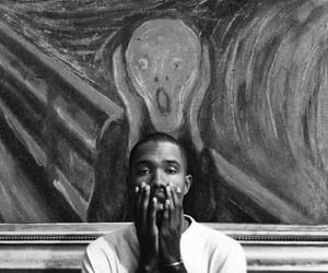 frank ocean, art, and black and white image