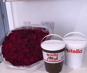 flowers, nutella, and rose image