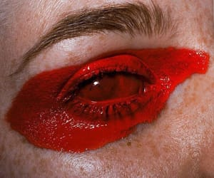 red, eye, and art image