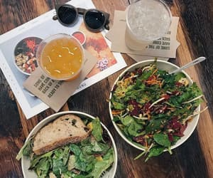 salads, water, and greens image