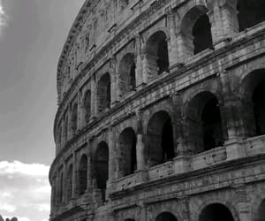 black and white, grey, and italy image