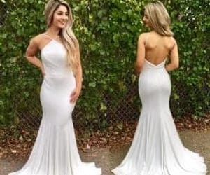 dress, low back, and prom2018 image