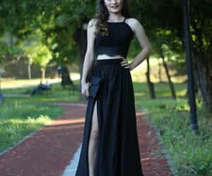 black, Prom, and prom dress image