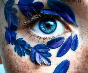 aesthetic, eyes, and flowers image