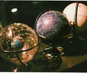 globe, planet, and vintage image