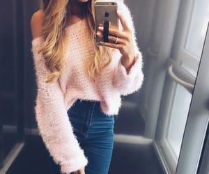 fashion, pink, and girl image