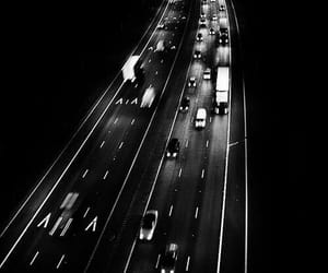black, road, and white image