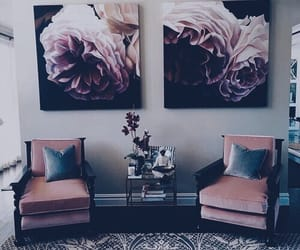 flowers, interior, and pink image