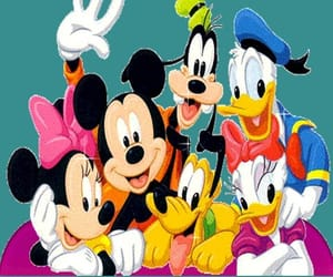 minnie mouse, pluto, and wallpaper image